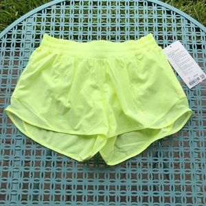 "Lululemon Hotty Hot Short II *Long 4"" Florid Flash"